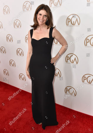 Amy Ziering arrives at the 27th annual Producers Guild Awards at the Hyatt Regency Century Plaza, in Los Angeles