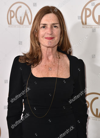 Finola Dwyer arrives at the 27th annual Producers Guild Awards at the Hyatt Regency Century Plaza, in Los Angeles