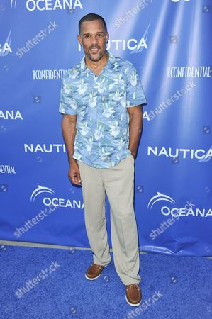 Peter Parros arrives at the 2nd Annual Nautica Oceana Beach House Party, in Santa Monica, Calif