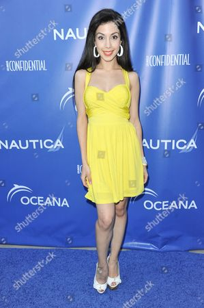 Roxy Darr arrives at the 2nd Annual Nautica Oceana Beach House Party, in Santa Monica, Calif