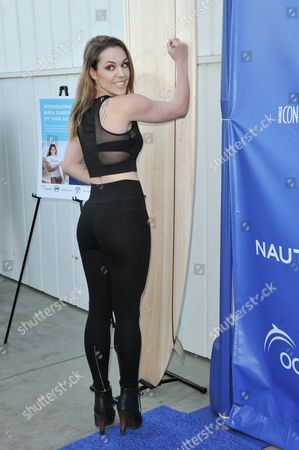 Agnes Bruckner arrives at the 2nd Annual Nautica Oceana Beach House Party, in Santa Monica, Calif