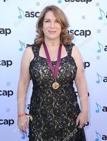 Stock Photo of Lindy Robbins, award winner for Want To Want Me by Jason Derulo, arrives at the 33rd annual ASCAP Pop Music Awards at the Dolby Ballroom, in Los Angeles