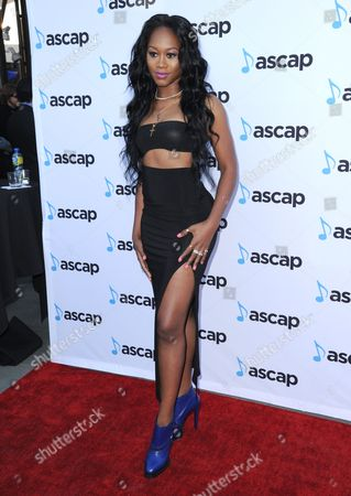 Priscilla Renea arrives at the 33rd annual ASCAP Pop Music Awards at the Dolby Ballroom, in Los Angeles