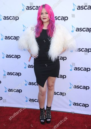 Stock Image of Allison Iraheta of Halo Circus arrives at the 33rd annual ASCAP Pop Music Awards at the Dolby Ballroom, in Los Angeles