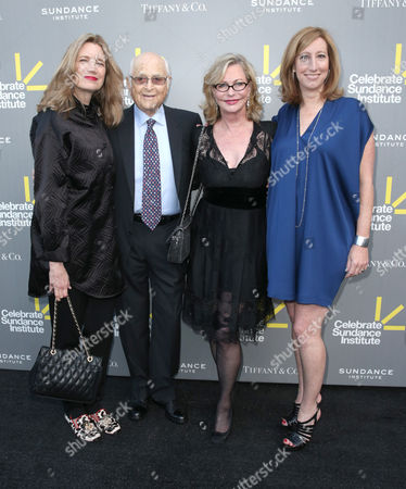 Cindy Horn, writer/producer Norman Lear, Event Chair and Sundance Institute Trustee Lyn Lear, and Sundance Institute Executive Director Keri Putnam attend the 2013 'Celebrate Sundance Institute' Los Angeles Benefit at The Lot on in West Hollywood, California