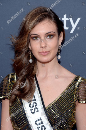 Miss USA Erin Brady arrives at the 3rd annual NFL Honors at Radio City Music Hall, in New York