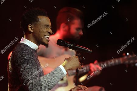 Jonathan McReynolds performs at the 47th Annual GMA Dove Awards at Lipscomb University, in Nashville, Tenn