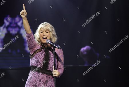 Natalie Grant performs at the 47th Annual GMA Dove Awards at Lipscomb University, in Nashville, Tenn