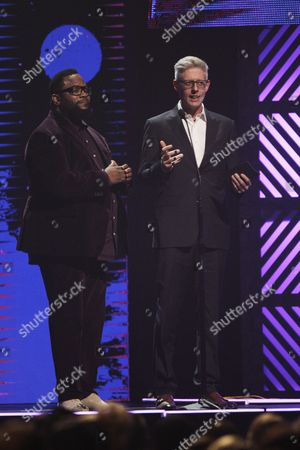 Stock Image of Hezekiah Walker, left, and Matt Maher are seen at the 47th Annual GMA Dove Awards at Lipscomb University, in Nashville, Tenn