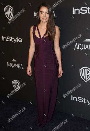 Stock Picture of Katherine Hughes arrives at the InStyle and Warner Bros. Golden Globes afterparty at the Beverly Hilton Hotel, in Beverly Hills, Calif