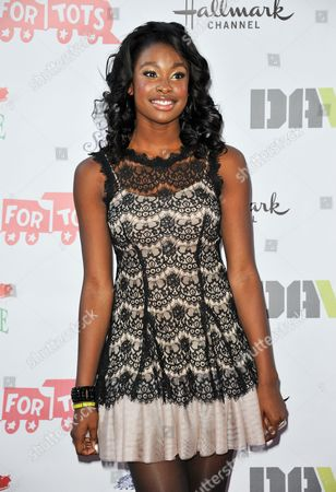 Coco Jones arrives at the 82nd Annual Hollywood Christmas Parade, on Sunday, December, 1, 2013 in Los Angeles