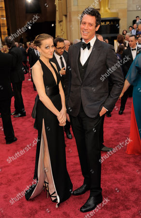 Melisa Wallack, left, and Craig Borten arrive at the Oscars, at the Dolby Theatre in Los Angeles