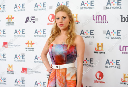 Actress Kathryn Winnick attends the A+E Networks 2013 Upfront on in New York