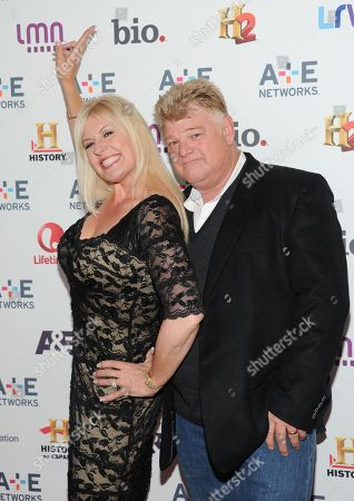 "Stock Image of Storage Wars"" cast members Laura Dotson and Dan Dotson attend the A+E Networks 2013 Upfront on in New York"