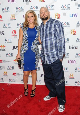 """Storage Wars"""" cast members Brandi Passante and Jarrod Schulz attend the A+E Networks 2013 Upfront on in New York"""