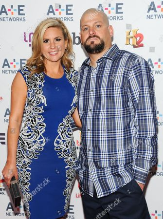 "Stock Picture of Storage Wars"" cast members Brandi Passante and Jarrod Schulz attend the A+E Networks 2013 Upfront on in New York"
