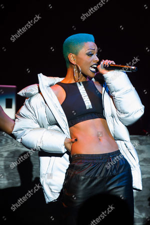 Sharaya J performs at the Alexander Wang x H&M collection launch event on in New York
