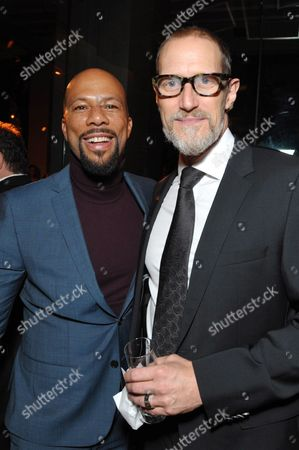 Common, left, and Christopher Heyerdahl attend the AMC, IFC, Sundance Channel Emmy After Party, on in West Hollywood, Calif