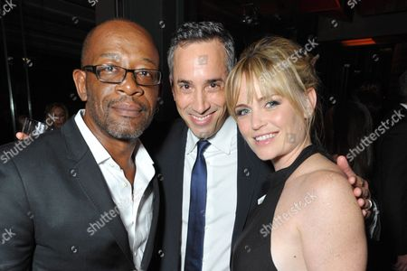 From left, Lennie James, Jeremy Gold, and Sprague Grayden attend the AMC, IFC, Sundance Channel Emmy After Party, on in West Hollywood, Calif