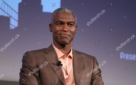 """Charles Parnell is seen at the """"Men of TNT"""" panel during the American Black Film Festival at Hilton Hotel, in New York"""