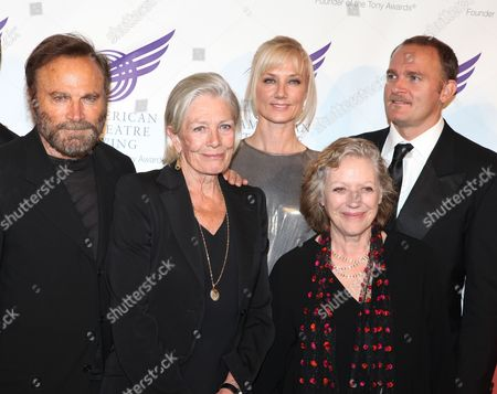 Actors, from left, Franco Nero, Vanessa Redgrave, Joely Richardson, Kika Markham and Carlo Gabriel Nero attend the American Theatre Wing's annual gala at the Plaza Hotel on in New York