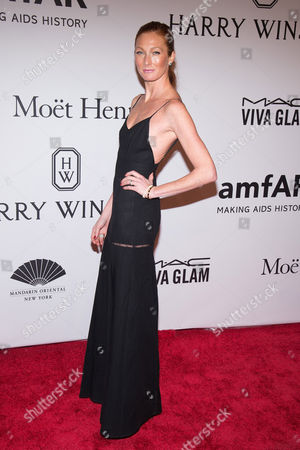Maggie Rizer attends amfAR's New York Gala honoring Harvey Weinstein at Cipriani Wall Street, in New York