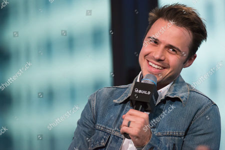 "Kris Allen participates in AOL's BUILD Speaker Series to discuss his new album ""Letting You In at AOL Studios, in New York"