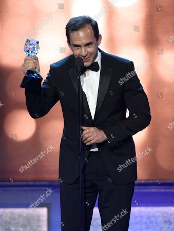 "Stock Photo of Tom Lassally accepts the award for best comedy series for ""Silicon Valley"" at the 22nd annual Critics' Choice Awards at the Barker Hangar, in Santa Monica, Calif"