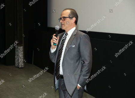 """Gary Michael Walters, CEO Bold Films, speaks at the Bold Films Special Screening of """"No Escape"""", in Beverly Hills, Calif"""
