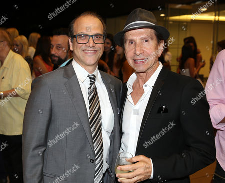 """Gary Michael Walters, CEO Bold Films, left, and Manny Mashouf, Bebe Founder, attend the Bold Films Special Screening of """"No Escape"""", in Beverly Hills, Calif"""