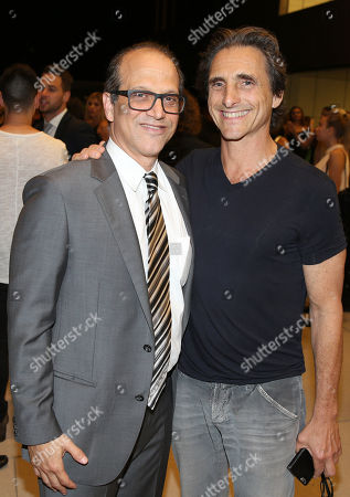 """Gary Michael Walters, CEO Bold Films, left, and Lawrence Bender attend the Bold Films Special Screening of """"No Escape"""", in Beverly Hills, Calif"""
