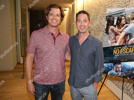 "John Erick Dowdle, Director and Writer, left, and Drew Dowdle, Writer and Producer, attend the Bold Films Special Screening of ""No Escape"", in Beverly Hills, Calif"