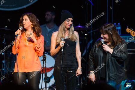 Wilson Philips (from left, Wendy Wilson, Chynna Phillips, and Carnie Wilson) perform on stage during Brian Fest: A Night To Celebrate The Music Of Brian Wilson at the Fonda Theatre, in Los Angeles