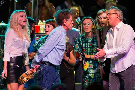 Kesha, Blondie Chaplin, Lucius, Karen Elson, and Boz Scaggs perform on stage during Brian Fest: A Night To Celebrate The Music Of Brian Wilson at the Fonda Theatre, in Los Angeles