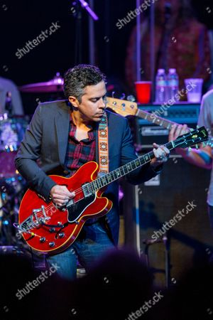 M. Ward of She & Him performs on stage during Brian Fest: A Night To Celebrate The Music Of Brian Wilson at the Fonda Theatre, in Los Angeles