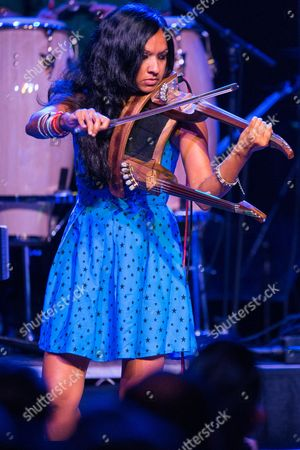 Gingger Shankar performs on stage during Brian Fest: A Night To Celebrate The Music Of Brian Wilson at the Fonda Theatre, in Los Angeles