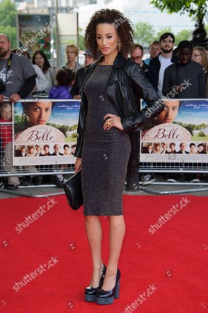 Elarica Gallacher arrives for the UK premiere of Belle at a central London cinema, London