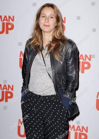 Screenwriter Tess Morris poses for photographs at the screening of Man Up at Soho Hotel in central London, Tuesday, 5 May, 2015