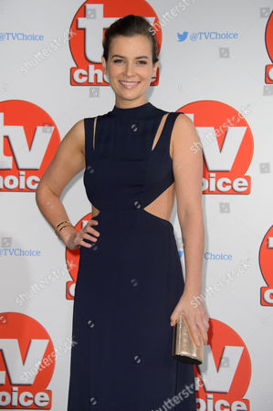 Camilla Arfwedson poses for photographers at the TV Choice Awards 2015 at a central London venue, London