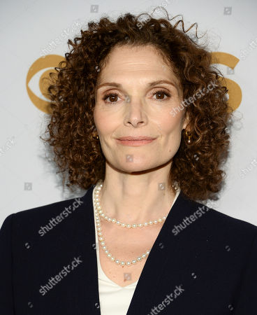 Mary Elizabeth Mastrantonio attends the CBS Network 2015 Programming Upfront at The Tent at Lincoln Center, in New York