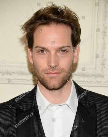 Stock Picture of Andy Gillet arrives at the CHANEL Paris-Salzburg 2014/15 Metiers d'Art Collection fashion show at the Park Avenue Armory, in New York