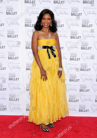 Pamela Joyner arrives at the New York City Ballet Fall Gala honoring fashion designer Valentino Garavani at Lincoln Center on in New York. For this one night only Valentino will create costumes for three ballets