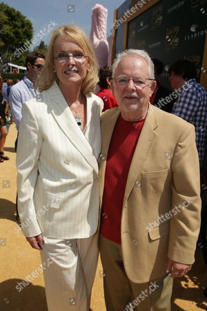 """Stock Picture of Producer Bonne Radford and Author Roger S. Baum seen at Clarius Entertainment Los Angeles Premiere of """"Legends of Oz: Dorothy's Return"""" at Regency Village Theater, in Los Angeles, CA"""