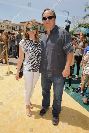 """Jennifer Sloan and Jim Belushi seen at Clarius Entertainment Los Angeles Premiere of """"Legends of Oz: Dorothy's Return"""" at Regency Village Theater, in Los Angeles, CA"""