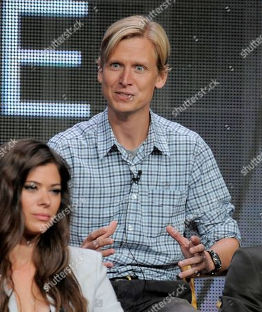 """Executive producer Phil Klemmer participates in """"The Tomorrow People"""" panel at the CW Summer TCA, at the Beverly Hilton hotel in Beverly Hills, Calif"""