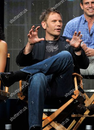 """Actor Mark Pellegrino participates in """"The Tomorrow People"""" panel at the CW Summer TCA, at the Beverly Hilton hotel in Beverly Hills, Calif"""