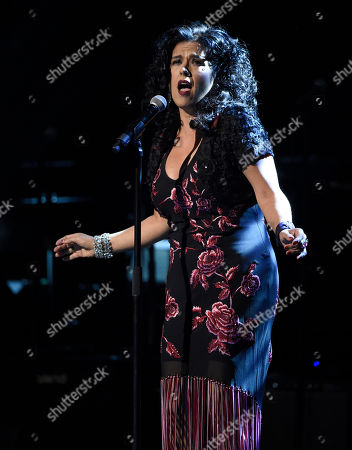Rebekah Del Rio performs at the David Lynch Foundation Music Celebration at the Theatre at Ace Hotel, in Los Angeles