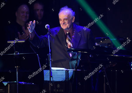 Stock Photo of Angelo Badalamenti performs at the David Lynch Foundation Music Celebration at the Theatre at Ace Hotel, in Los Angeles