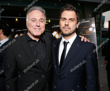 Producer Ehud Bleiberg and director Ariel Vromen attend the DeLeon Tequila special screening of The Iceman at the Arclight on in Los Angeles