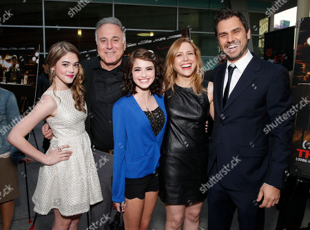 Stock Photo of McKaley Miller, producer Ehud Bleiberg, actress Megan Sherrill, executive producer Laura Rister and director Ariel Vromen attend the DeLeon Tequila special screening of The Iceman at the Arclight on in Los Angeles